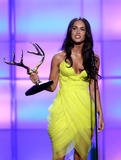 Megan Fox in yellow short dress show off her breasts and legs at Spike TV's 2nd Annual Guys Choice Awards