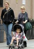 Michelle Williams goes for a walk with daugther Matilda in New York City, NY - April 13, 2008